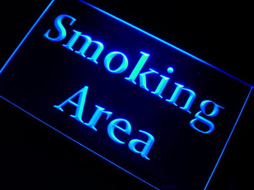Smoking Area Zone Neon Light Sign