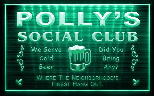 Social Club Pub Bar Custom Name Personalized