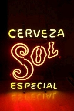 Sol Cerveza Logo Bar Classic Neon Light Sign 17 x 15