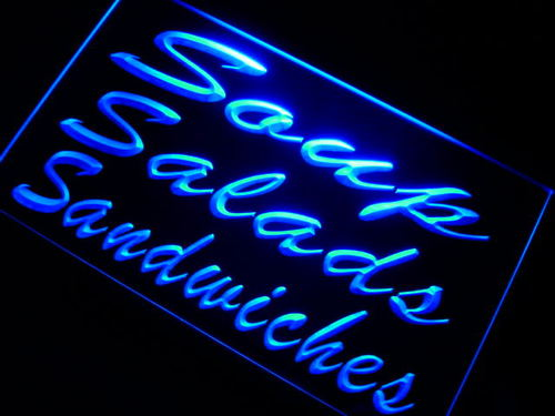 Soups Salads Sandwiches Cafe Neon Light Sign
