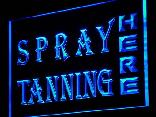 Spray Tanning Shop Lure Display Neon Light Sign