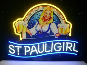 St Pauligirl Yellow Twin Beer Classic Neon Light Sign 17 x 14