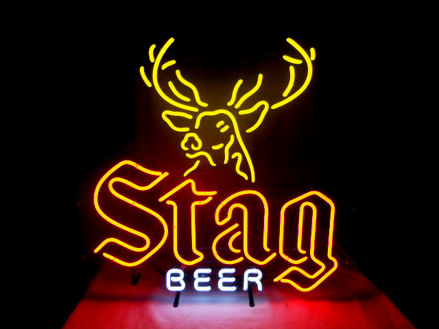 Stag Beer Bar Classic Neon Light Sign 17 x 14