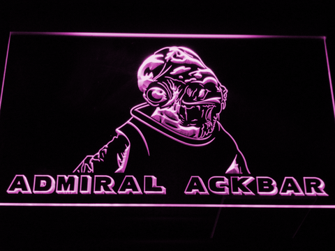 Star Wars Admiral Ackbar LED Neon Sign