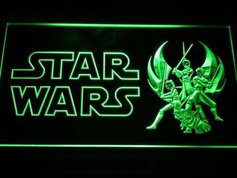 Star Wars Ahsoka, Obi-Wan, Yoda and Anakin LED Neon Sign