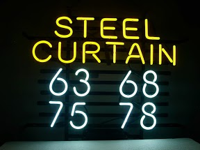 Steel Curtain Classic Neon Light Sign 17 x 14