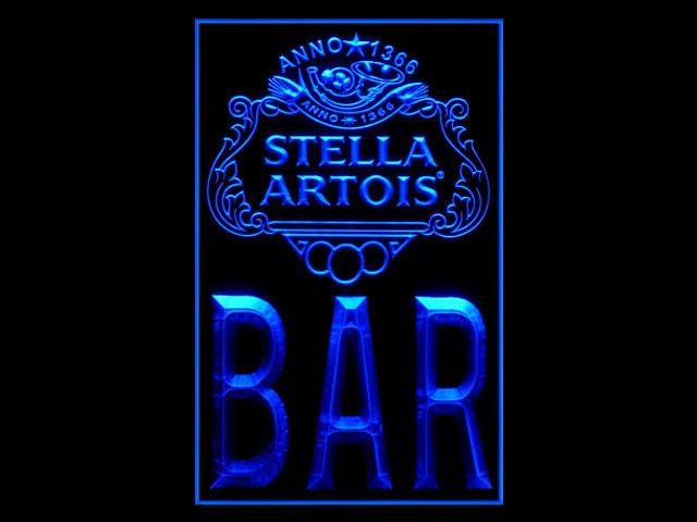 Stella Artois Bar Badge Logo Tall Sign Neon Stella Artois Bar P990