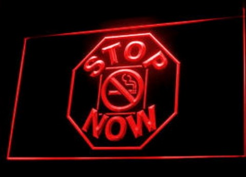 Stop smoking Quit smoke LED Neon Sign