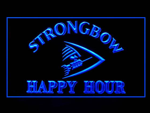 Strongbow Arrow HAPPY HOUR Beer Neon Light Sign