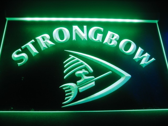 Strongbow Logo Beer Bar Pub Store Neon Light Sign