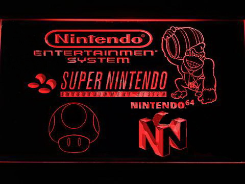 Super Nintendo LED Neon Sign