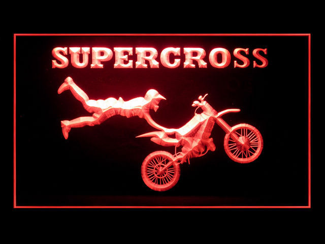 Supercross Bike LED Light Sign