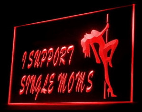 Support Single Moms LED Neon Sign