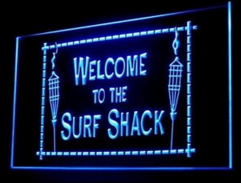 Welcome To Surf Shack Surfboard Beach LED Neon Sign