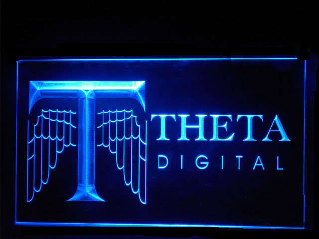THETA Tube Preamp LED Sign