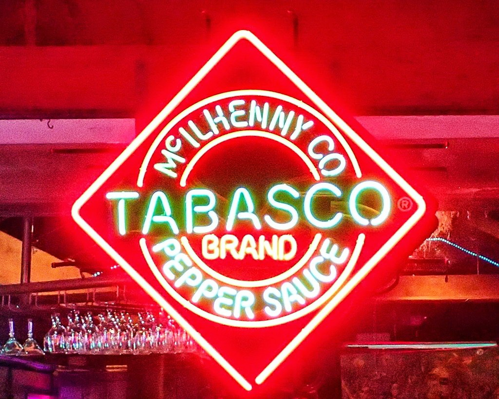 Tabasco Neon Sign