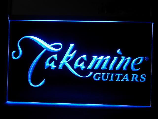 Takamine Guitar Display Led Light Sign