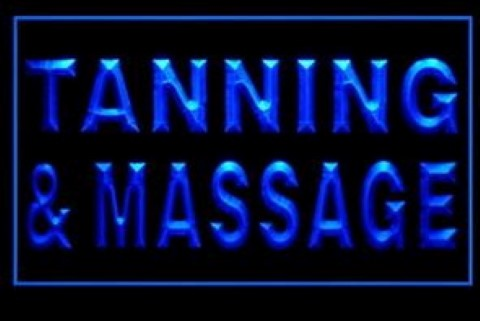 Tanning And Massage LED Neon Sign
