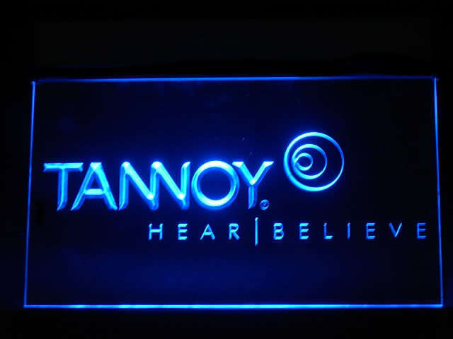 Tannoy Speakers hi-fi LED Sign