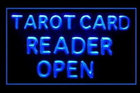 Tarot Card Reader Open LED Neon Sign