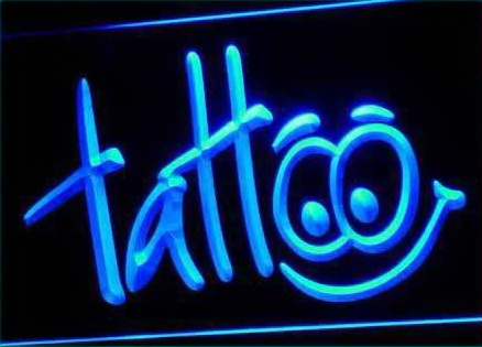 Tattoo Body Inked Shop Neon Light Sign