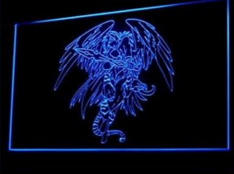 Tattoo Design Death Wing LED Neon Sign