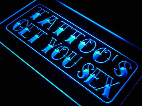 Tattoo's Get You Sex Shop Display Neon Light Sign