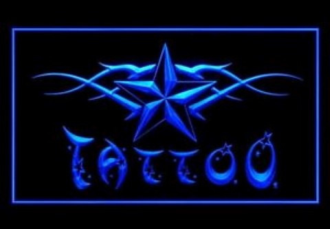 Tattoo Piercing Nautical Star LED Neon Sign