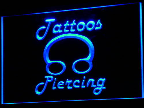 Tattoos Piercing Ring Body Shop Neon Light Sign