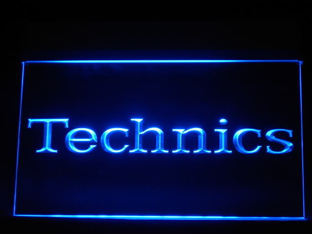 Technics Turntables LED Sign