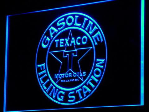 Texaco Gasoline Filling Station LED Neon Sign