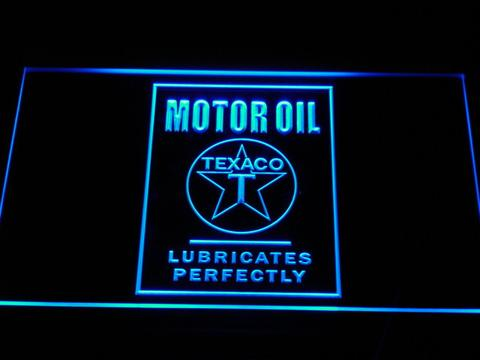 Texaco Motor Oil - Lubricates Perfectly LED Neon Sign