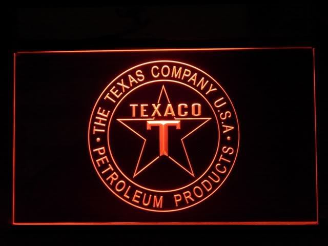 Texaco Star Gas LED Light Sign