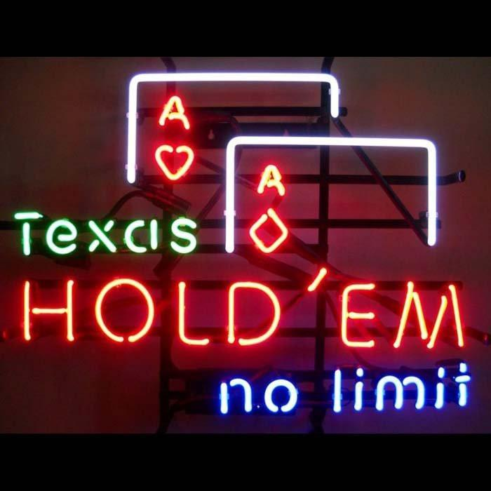 Texas Hold Em No Limit Neon Sign