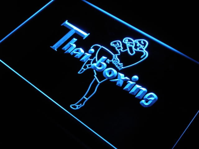 Thai Boxing Logo LED Light Sign