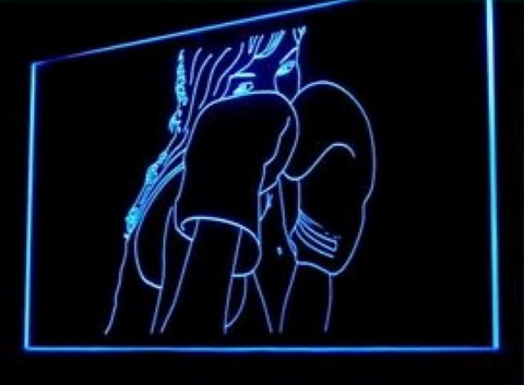Thai Boxing Training LED Neon Sign