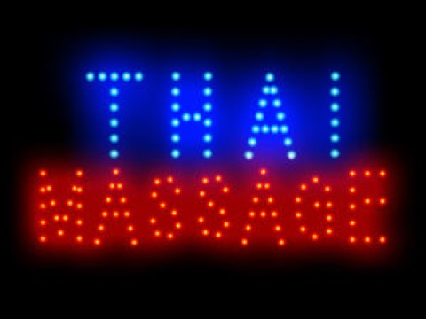 Thai Massage Relax Shop Open LED Sign