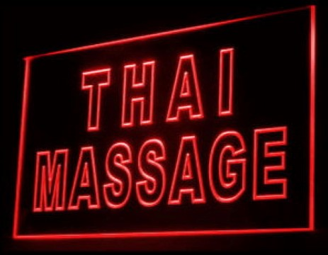 Thai Massage Shop LED Neon Sign