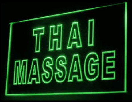 Thai Massage Therapy LED Neon Sign