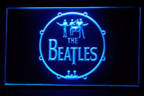 The Beatles Music Drums LED Neon Sign