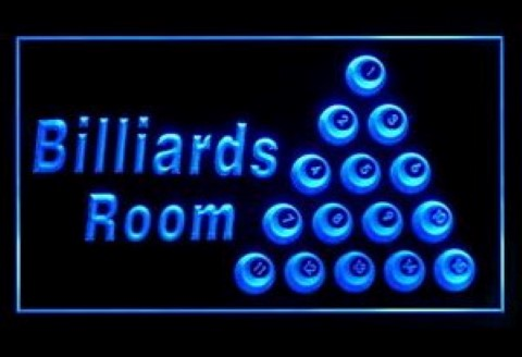 The Billards Room LED Neon Sign