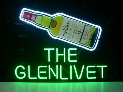 The Glenlivet Bottle Bar Logo Neon Light Sign 17 x 13