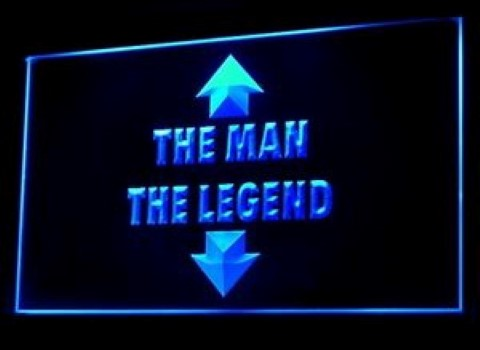 The Man The Legend LED Neon Sign
