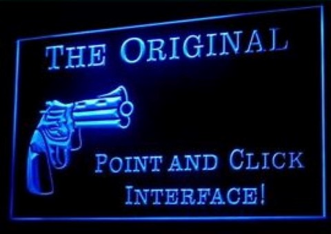The Original Point and Click Interface LED Neon Sign