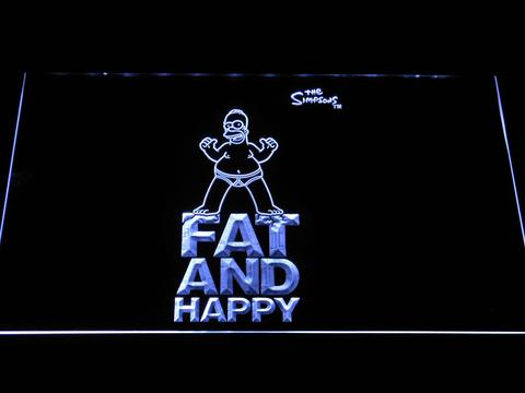 The Simpsons Fat and Happy LED Neon Sign
