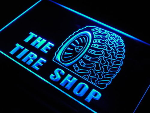 The Tire Shop LED Light Sign