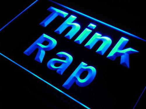 Think Rap Rapper Music DJ Studio Neon Light Sign