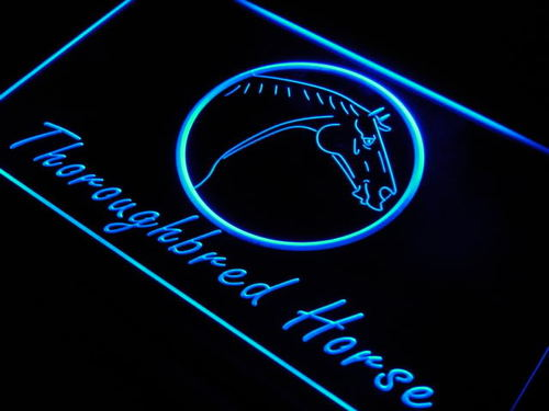 Thoroughbred Horse Model Display Neon Light Sign
