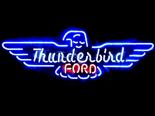 Thunderbird Ford American Auto Neon Light Sign 18 x 10