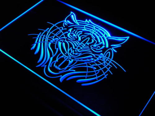 Tiger Face Animal Display Home Neon Light Sign